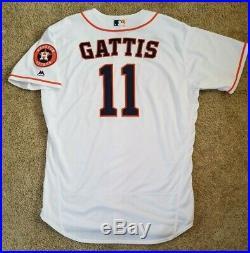 newest c0426 cd255 Evan Gattis 2018 Game Used Worn Team Issued Houston Astros ...