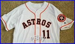 Evan Gattis 2018 Game Used Worn Team Issued Houston Astros Home Jersey