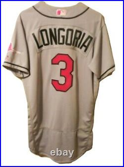 Evan Longoria 2017 Tampa Bay Devil Rays Game Used Jersey (Mother's Day)