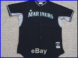 FELIX HERNANDEZ sz 52 #34 2015 Seattle Mariners game used jersey pre game MLB