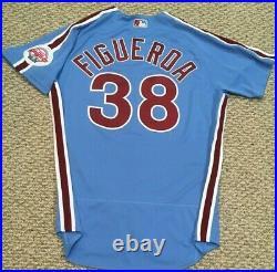 FIGUEROA #38 size 44 2020 PHILADELPHIA PHILLIES Home RETRO Game Jersey MLB holo