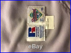 Fred Mcgriff Game Used Jersey Atlanta Braves Rare Blue Jays