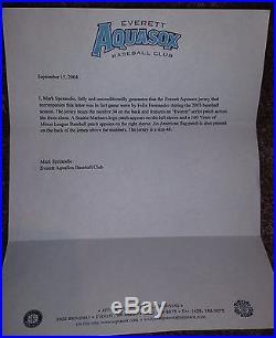 Felix Hernandez Game Used 2003 Autographed Everett Road Aquasox Jersey Mariners