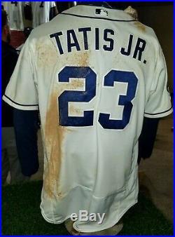 Fernando Tatis Jr. San Diego Padres Game Used Worn Home Rookie Homerun Jersey