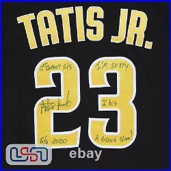 Fernando Tatis Jr. Signed 1st Career Grand Slam Game Used Jersey USA SM LOA