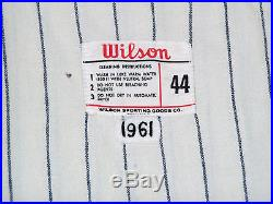 GAME USED 1961 DON SCHAEFFER CLEVELAND INDIANS FLANNEL BASEBALL JERSEY WORN VTG