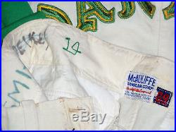 GAME USED 1969 OAKLAND A's VINTAGE FLANNEL BASEBALL PANTS WORN TED KUBIAK JERSEY