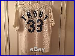 GAME USED 1980 Steve Trout Chicago White Sox Home Jersey #33 Softball Style RARE