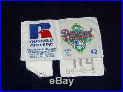 GAME USED 1994 DETROIT TIGERS JUNIOR FELIX VINTAGE BASEBALL JERSEY 1990s