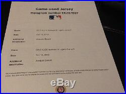 GAME USED Champagne Stain Playoff JERSEY Detroit Tigers Baseball MLB Authentic