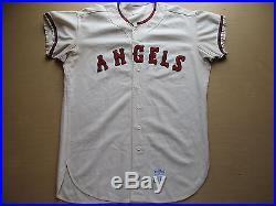 GAME USED WORN DON MINCHER 1967 CALIFORNIA ANGELS MCAULIFFE BASEBALL JERSEY VTG
