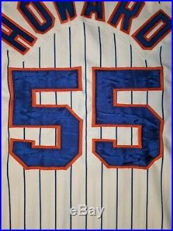 GAME USED WORN FRANK HOWARD NEW YORK METS Home Rawlings Jersey 46 1983 Senators