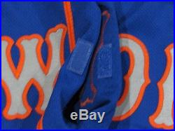 GSELLMAN size 46 #65 2018 New York Mets game used jersey road blue MLB RUSTY