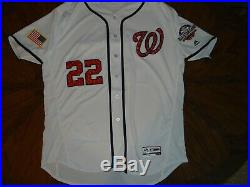 Game Issued 2018 Soto Washington Nationals Majestic Jersey 52 Flex 0730 Patch