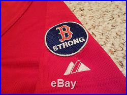 Game Used Boston Red Sox #2 Jacoby Ellsbury 2013 Red Alternate Jersey vs Yankees