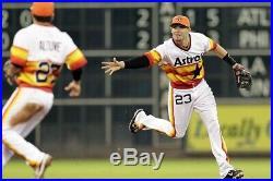 Game Used Houston Astros Tbtc Rainbow Jersey