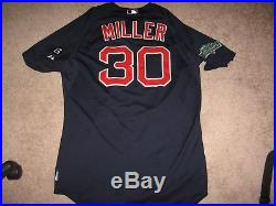 Game Worn Andrew Miller Boston Red Sox Alternate Jersey-2012 100 Years