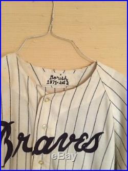 Game Worn Atlanta Braves Jersey. 1971 Season