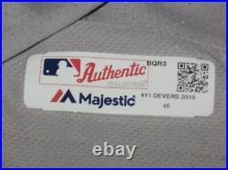 Game Worn/Issued Rafael Devers Boston Red Sox Road Jersey