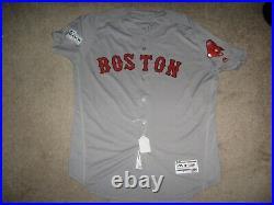 Game Worn Sandy Leon Boston Red Sox Post Season Jersey 2017