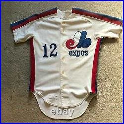 Game Worn/Used Montreal Expos Jersey Mike Phillips