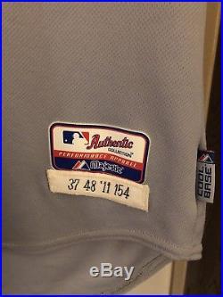 Game used mlb baseball jersey