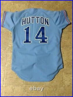 Game worn / used Montreal Expos jersey #14 TOMMY HUTTON (1979)