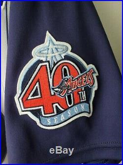 Garrett Anderson Anaheim / Los Angeles Angels Game Worn used Jersey 2000 Season