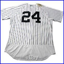 Gary Sanchez New York Yankees 2017 Game Used #24 Pinstripe Jersey (5/12/2017)
