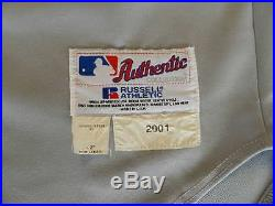 Gerald Perry 2001 Seattle Mariners game used jersey size 46 minus 2
