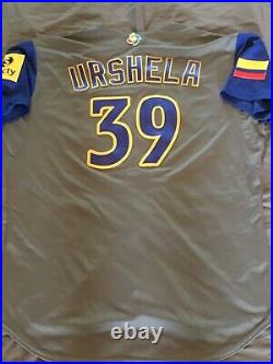 Gio Urshela World Baseball Classic Game Used Colombia Jersey WBC Yankees