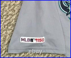 HANIGER #17 size 46 2019 Mariners game used jersey road gray 150 patch MLB HOLO