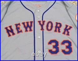 HARVEY size 48 #33 2018 New York Mets game jersey issued gray road RUSTY MLB HOL