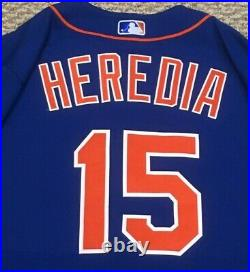 HEREDIA size 44 #15 2020 New York Mets game used jersey home blue SEAVER 41 MLB