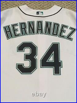 HERNANDEZ 2017 size 50 #34 MARTINEZ JERSEY RETIREMENT Mariners game JERSEY MLB
