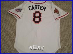 HOF GARY CARTER GAME USED 2008 Orange County Flyers Jersey 1986 Mets Expos