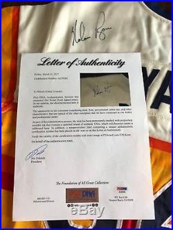 Houston Astros 1984 Game Used Signed Nolan Ryan Rainbow Baseball Jersey MEARS 10
