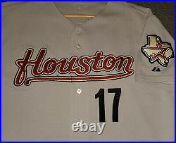 Houston Astros Lance Berkman Game Used Road Gray Jersey