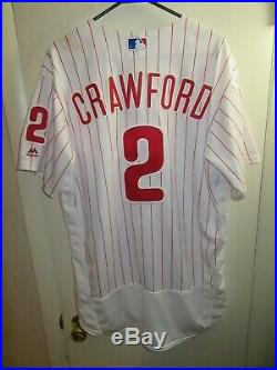J. P. Crawford Phillies Mariners 2018 GAME USED HOME JERSEY MLB HOLO PHOTO MATCH