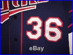 JOE NATHAN Signed 2010 Authentic Minnesota Twins Team Issued Game Jersey Auto