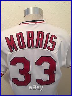 JOHN MORRIS ST LOUIS CARDINALS GAME USED JERSEY HOME 1989 SET 1