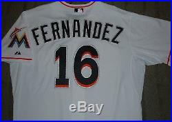 Jose Fernandez Miami Marlins 2014 Game Team Issued Un Worn Used Home Jersey