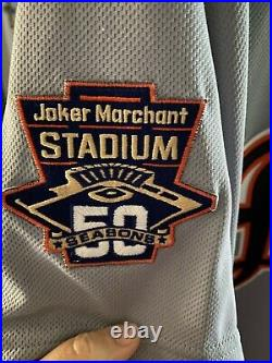 James McCann game used, signed jersey 50th anniversary Joker Marchant patch