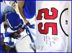 Javier Baez 2012 Signed Chicago Cubs Peoria Chiefs Game Used Worn Jersey Loa