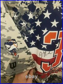 Jeff McNeil St. Lucie NY Mets Autographed Game Used Jersey Salute to Service