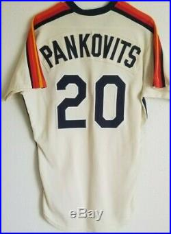 Jim Pankovits'84-'85 Astros game used worn jersey, MEARS LOA