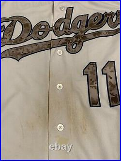 Jimmy Rollins Game Used Memorial Day Dodgers Home Jersey! MLB Auth