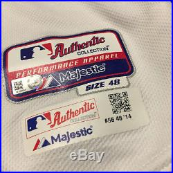 Joe Kelly 2014 Boston Red Sox MLB Game Worn/Issued White Jersey