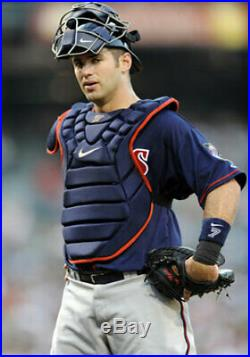 Joe Mauer Minnesota Twins Game Used Chest Protector Cather's Gear Jersey Bat