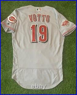 Joey Votto Cincinnati Reds Game Used Worn Jersey 2019 280th HR MLB Auth